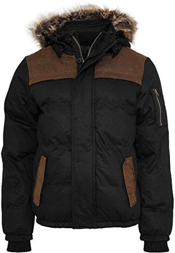 Heavy Twill Bubble Jacket Black/Brown
