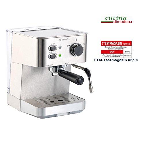 Cucina di Modena Siebträgermaschine: Edelstahl Siebträger-Espressomaschine ES-1050 (Siebträger...
