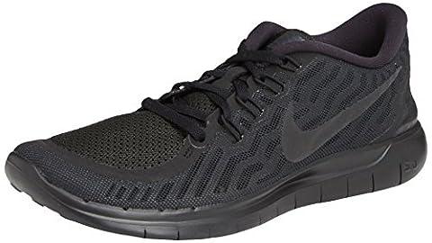 Nike Damen Laufschuhe Sneaker Nike Free 5.0 724383-801, Black/Black-Anthracite, 43