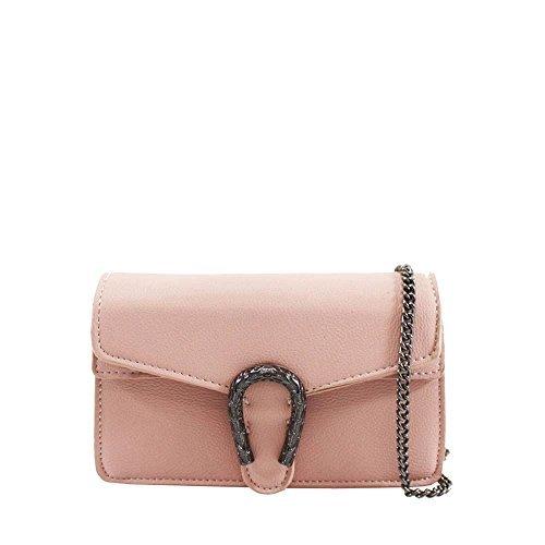 Haute für Diva S NEU Hufeisen Form Verzierung Kunstleder Damen Mode Schulter Handtasche - Rosa, Small (Diva Mode)
