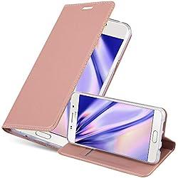 Cadorabo Coque pour Samsung Galaxy A3 2016 en Classy Or ROSÉ - Housse Protection avec Fermoire Magnétique, Stand Horizontal et Fente Carte - Portefeuille Etui Poche Folio Case Cover