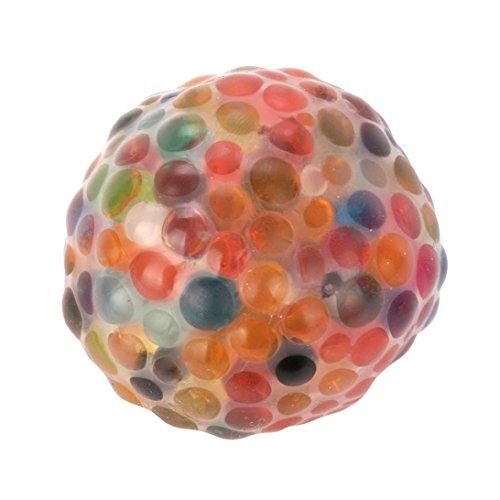 Esponjoso Arco iris Pelota Juguete Compresible Estrés Squishy Juguete Estrés Alivio Ball por diversión zycShang