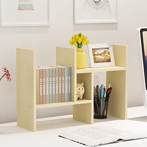 LBXMLX Creative Desk Computer Desk Bücherregal Desktop-Teleskopregal Einfaches Bücherregal für Kinder Creative Desk @ H-Abschnitt - Ahornfarben senden Schraubendreherverlustverkäufe -