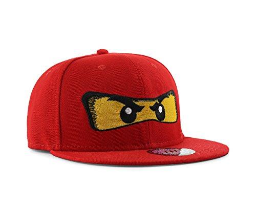 True Heads Red Ninja Eyes Adjustable Snapback Baseball Cap