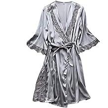 Rcool Camisones Batas y Kimonos Camisones Mujer Camisones Verano Camisones Tallas Grandes Mujer,Cinturón de