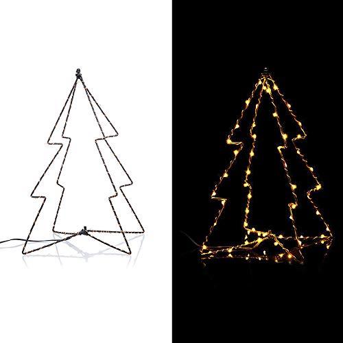 LED Tannenbaum 3D Weihnachtsdekoration beleuchtet mit 6h-Timer Lichterkette Indoor und Outdoor Dekofigur