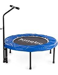 Kinetic Sports Indoor Fitness Trampolin Home Trampolin, Durchmesser 100 cm, Haltegriff Höhenverstellbar 83-123 cm