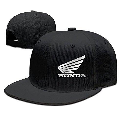 Huseki Honda' Big Wing Logo Baseball Snapback Cap Black Black