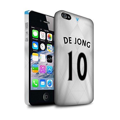 Offiziell Newcastle United FC Hülle / Matte Snap-On Case für Apple iPhone 4/4S / Tioté Muster / NUFC Trikot Away 15/16 Kollektion De Jong