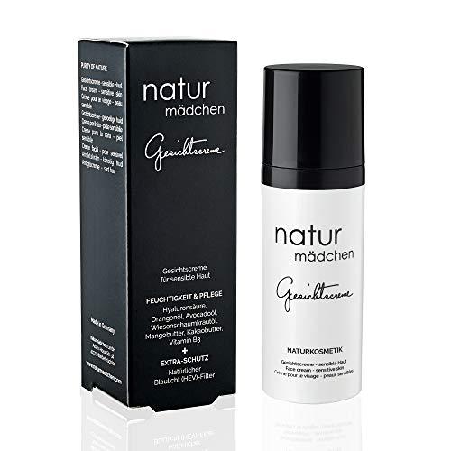 naturmädchen Anti-Aging Gesichtscreme 50ml vegane Naturkosmetik mit pflanzlicher Hyaluronsäure und HEV-Schutz/Made in Germany - Mädchen Natur