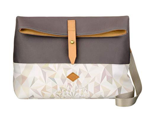 Oilily Damen M Shoulder Bag Umhängetasche, Weiß (Oyster White), 9.5x23x30.5 cm
