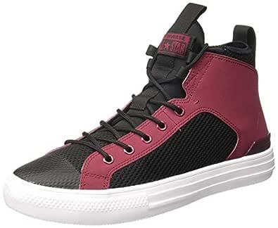 Converse Unisex's Pomegranate Red/Black/... Sneakers-11 UK/India (45 EU) (8907788080472)
