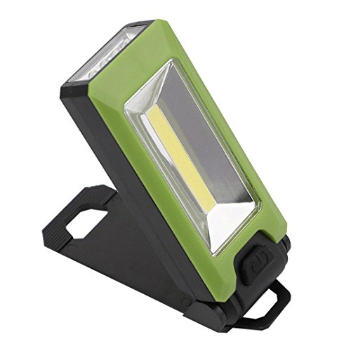 Magnet Auto COB LED Inspektionsleuchten, Siswong Faltbar Haken Super Hell 180° Rotieren Basis Draussen Hände frei Erkunden Arbeitslampe Taschenlampe (Grün) (Militär-auto-magneten)