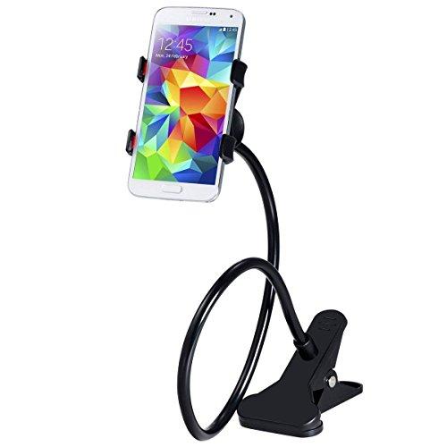 Demarkt Handyhalterung Schwanenhals Handy Halterung Handyhalter Smartphone Klammer Clip Universal Gadget Lazy Handyhalterung Universal 360°Drehen für Haus Büro Bett Tisch (Dunkelgrau) (Clip Für Handy)