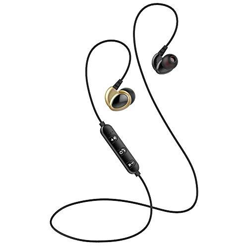 Elospy Sport Bluetooth Kopfhörer, In Ear HD Stereo Headset mit Ergonomisch gewinkelten Ohrstöpseln Kabellose Headphone mit Mikrofon, 4 Stunden Spielzeit, für iPhone, iPad, Samsung, Huawe