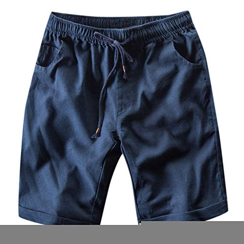 Herren Cargo Hose Shorts Sommer Freizeit Bermuda Kurze Hose Chino Training Jogging Hose Mit Kordel Regular Fit Ultraleichte Komfortable Schnell Trocknend WQIANGHZI -