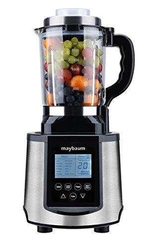 Maybaum Profi-Standmixer mit Kochfunktion, 30.000 U/min, 1.200 W, 1,5 L Glaskrug, LCD-Display, Automatikprogramme für Suppen, Sojamilch, Smoothies