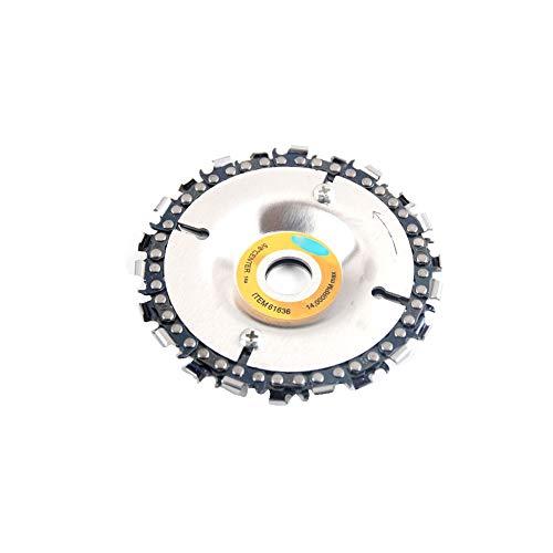 La Talla De Madera Professional Disc Grinder Cadena Disco Amoladora Angular Accesorio 4 Pulgadas 22 Dientes De La Cadena Grinder Talla De Madera Disco Suministros 1Set