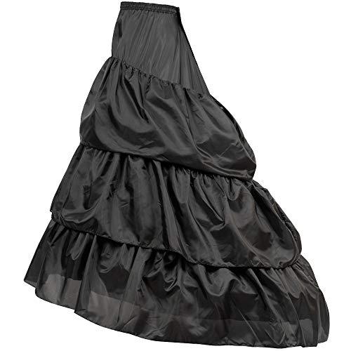 LONGBLE Reifrock Petticoat Unterrock Brautkleid Langen Schwanz Hochzeit Krinoline Underskirt mit...
