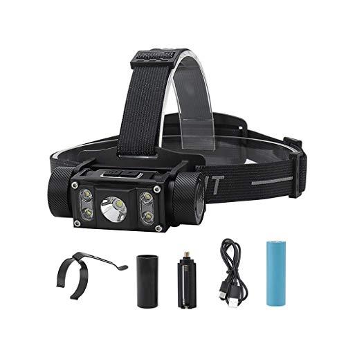 Wivilly HEADLAMP 1200 Lumen di Campeggio Esterna USB Torcia elettrica Ricaricabile Regolabile Faro LED Adatto alla Corsa Trekking Caccia Pesca Campeggio