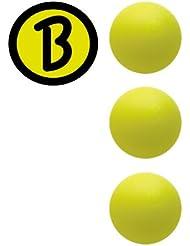 Bärenherz Magic Original - Bola de Futbolín de Torneo Profesional Color Amarillo - 3 Unidades