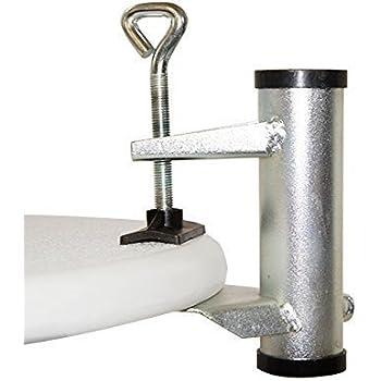 wenko sonnenschirm halter f r balkon tisch und stuhl schirmhalter sichere befestigung rohr. Black Bedroom Furniture Sets. Home Design Ideas