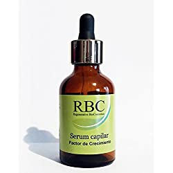 RBC Serum capilar con Factor de Crecimiento, anticaída y regeneración capilar, 50ml