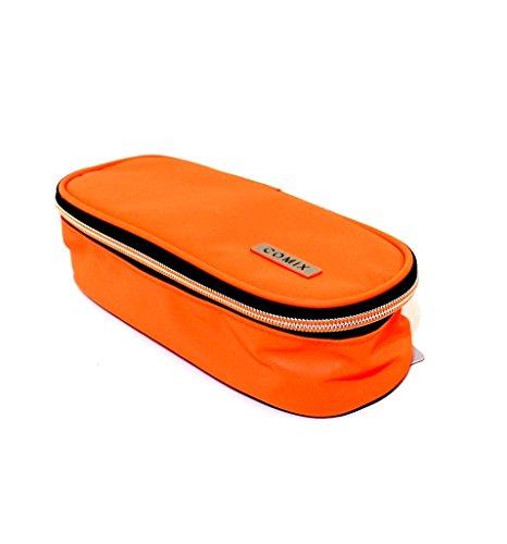 Astuccio scuola comix ovale organizzato reflective arancione fluo offerta nuovo