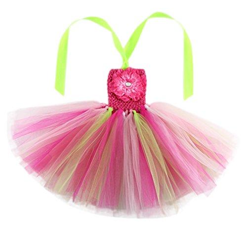 EOZY-Vestito Estivo Danza Bambina Tutu Arcobaleno Abito Bimba 6bcee925a26