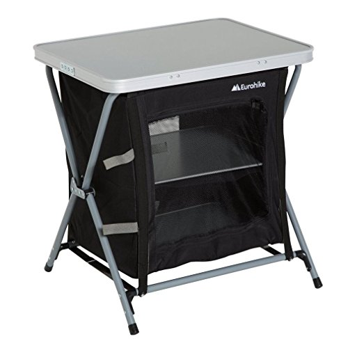 Eurohike 3 Estante Muebles de armarios plegables Camping Storage Negro, Negro, Talla Única