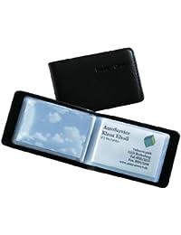 Sigel VZ170 Porte-cartes de visite, jusqu'à 40 cartes, 9 x 5,8 cm, similicuir, noir