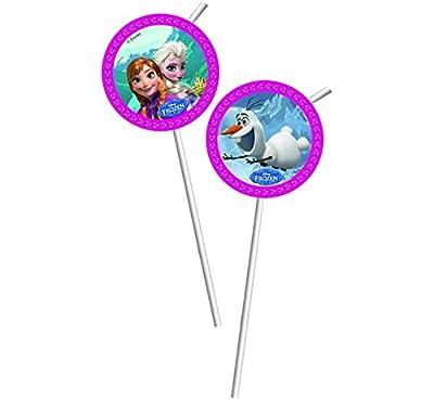Pajilla de la película Frozen de Disney, paquete de 6 unidades de Unique Party