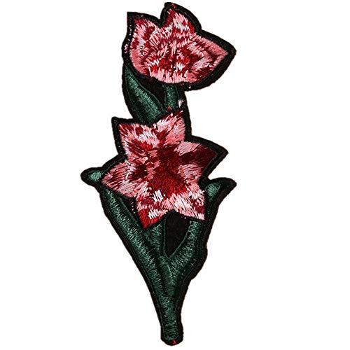 Gratis Versand 5 Stück Bügeln Patch Applikation Abzeichen, Flamingo · Rose · Chrysantheme · Schmetterling Kostüm Rucksack Jacke Jeans T-Shirt Patch (Der Leuchtende Jack Kostüm)