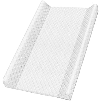 Royal Pearl Silver 70 x 50 x 9.8 cm Quilted Look Rotho Babydesign Wedge Changing Mat For babies from birth upwards 204440168CI