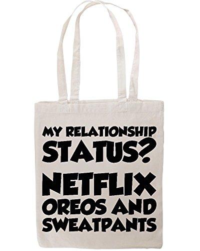 my-relationship-status-netflix-oreos-sweatpants-funny-tote-shopping-bag