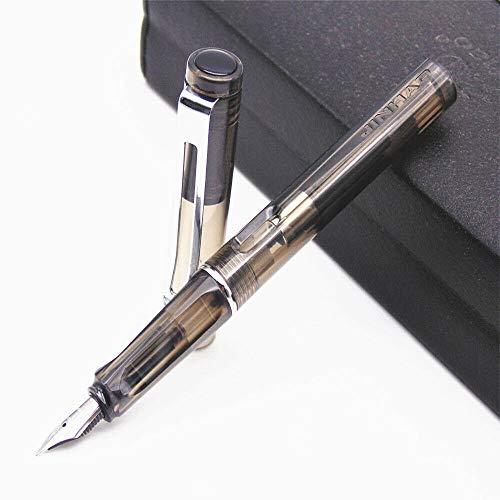 Pluma estilográfica SNERISE serie ligera, punta de 0,5 mm, 11 colores, tinta negra para niños, negocios, negocios y escritura, gris