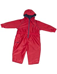 Hippychick Fleece Lined Waterproof All-in-One Suit - Red, 3-4 Years