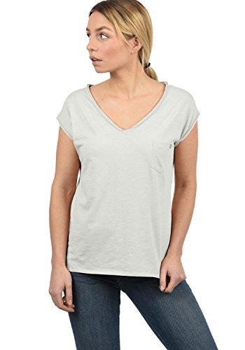 DESIRES Lynn Damen T-Shirt Kurzarm Shirt Mit V-Ausschnitt Und Brusttasche Aus 100% Baumwolle, Größe:XL, Farbe:Light Grey (2325) - Gold-damen-pink T-shirt