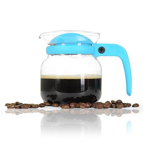 Kaffee-Kanne klein aus Glas 350ml (0,35L) Mikrowellengeeignet für Flüssigkeit mit drehbarem...
