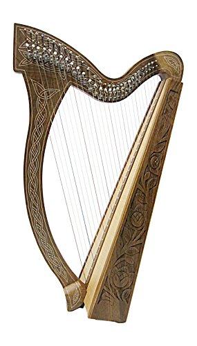 Angelsworld-Arpa Celta Con 29Cuerdas Halbtonclappen Incl Funda Nuevo Harp