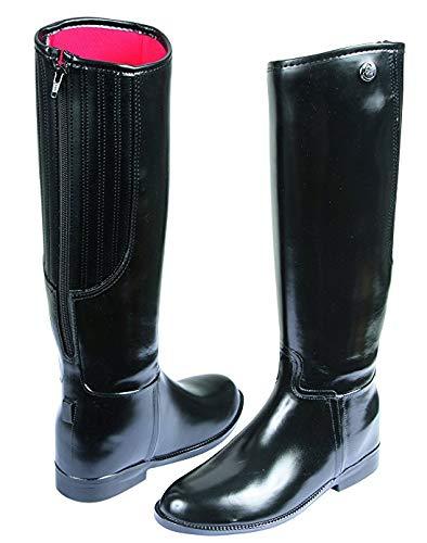 Kerbl Mädchen Reitstiefel Flexo, PVC Gummi Stiefel Gummireitstiefel, schwarz 31