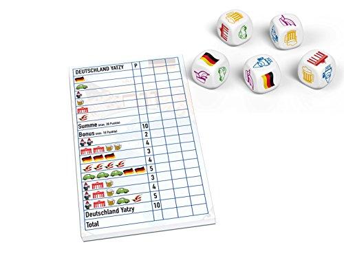 Huch & Friends 879622 – Deutschland Yatzy, Familien Wort/Würfelspiele