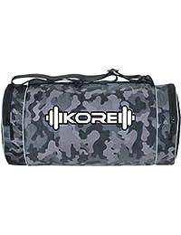 Kore Armor-7.0 Gym Bag with Two Side Pockets (Black Camo)