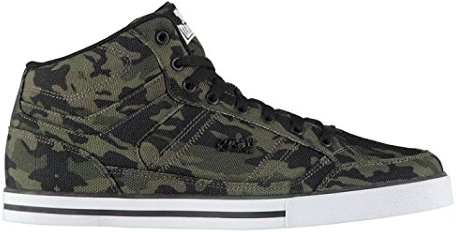 Official Trainers Lonsdale Canons Camouflage High Top Turnschuhe Herren grün Schuhe Sneakers Schuhe