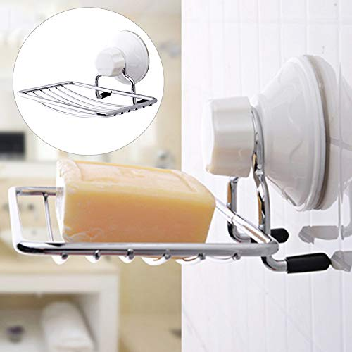 DarweirlueD Home Bathroom Kitchen Gadgets Wall Mount Soap Sponge Holder Suction Cup Rack Hollow Shelf-1# (Mount Bathroom Soap Holder Wall)