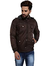 Derbenny Brown Nylon Reversible Jacket For Men