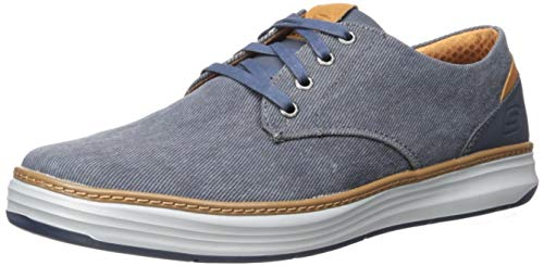 Skechers Men's Moreno Canvas Oxford Casual Canvas Oxford