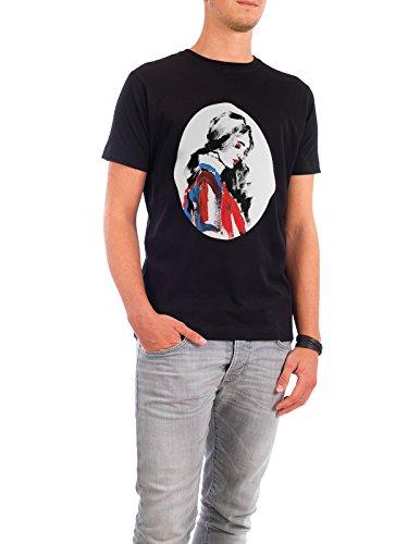 """Design T-Shirt Männer Continental Cotton """"Just Dreaming"""" - stylisches Shirt Menschen Fashion von Sarah Plaumann Schwarz"""