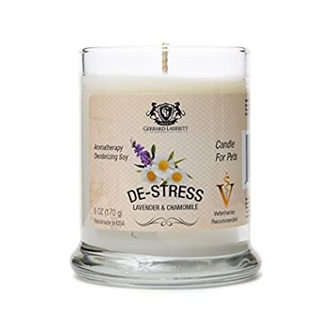De-stress Lavender & Chamomile Aromatherapy Deodorizing Soy Candle For