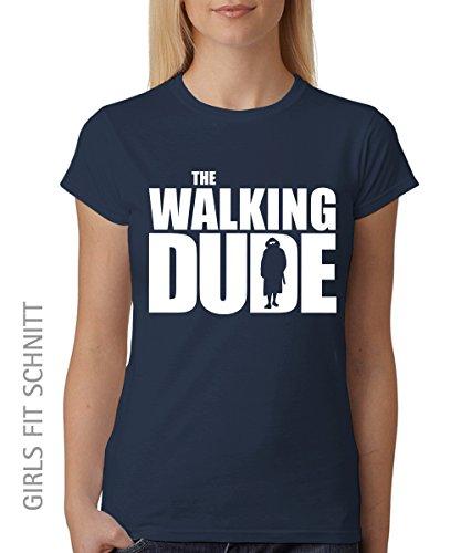 -- The Walking Dude -- Girls T-Shirt auch im Unisex Schnitt Navy